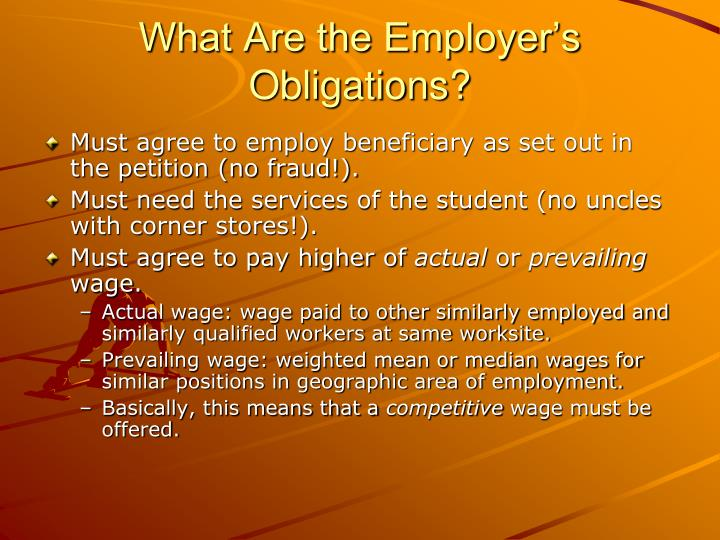 What Are the Employer's Obligations?