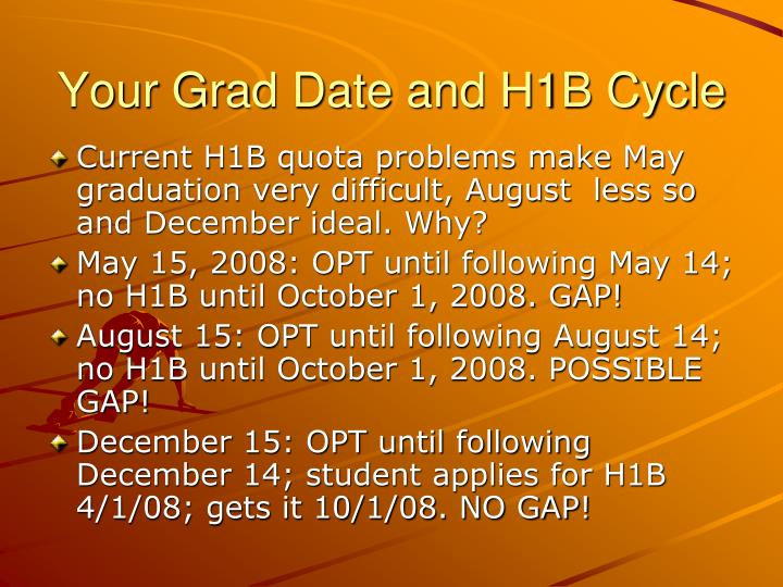 Your Grad Date and H1B Cycle
