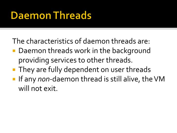 Daemon Threads
