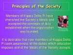 principles of the society1
