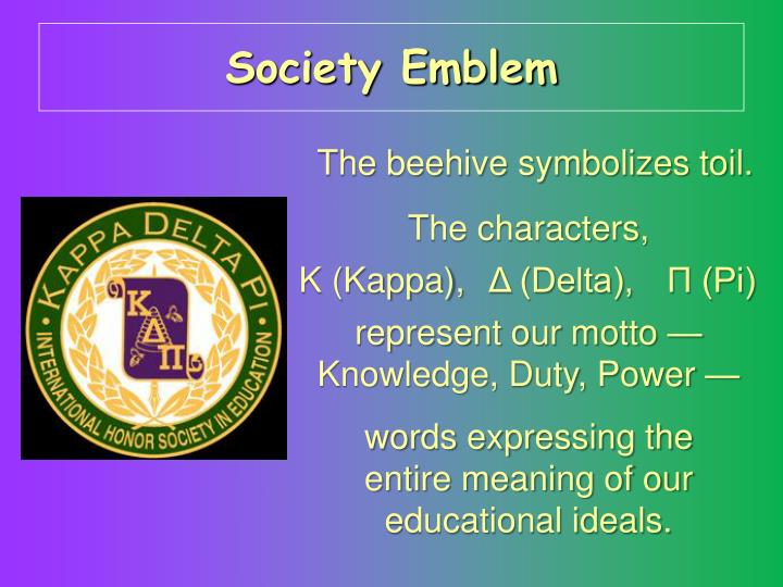 Society Emblem