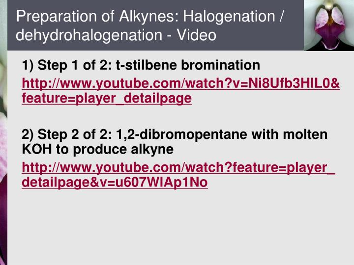 Ppt Chapter 9 Alkynes An Introduction To Organic