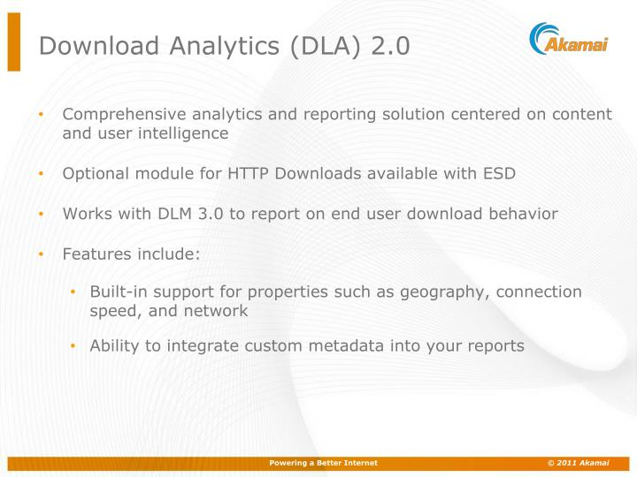Download Analytics (DLA) 2.0