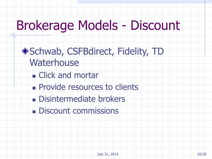 Brokerage Models - Discount