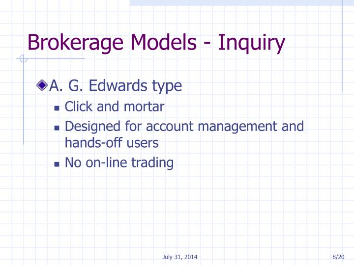 Brokerage Models - Inquiry