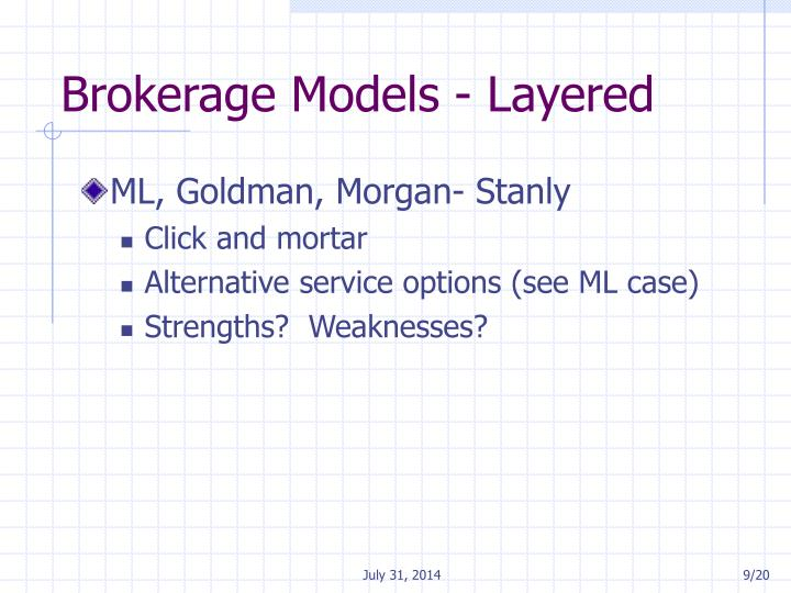 Brokerage Models - Layered