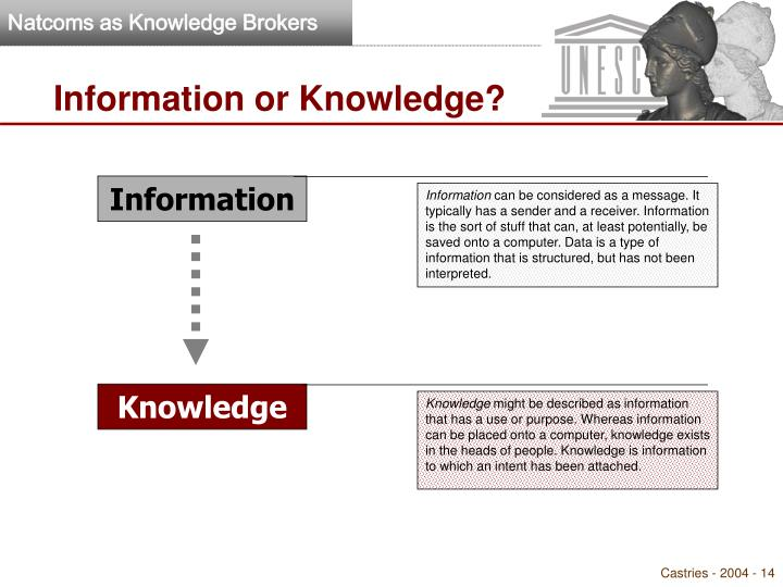 Information or Knowledge?