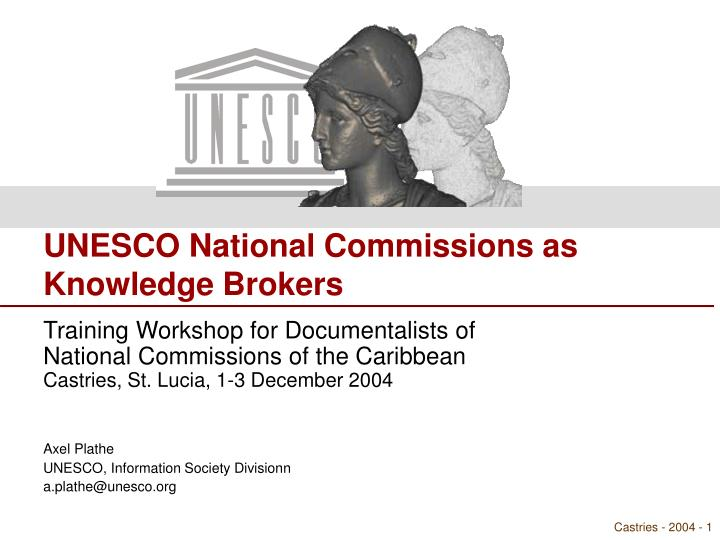 UNESCO National Commissions as