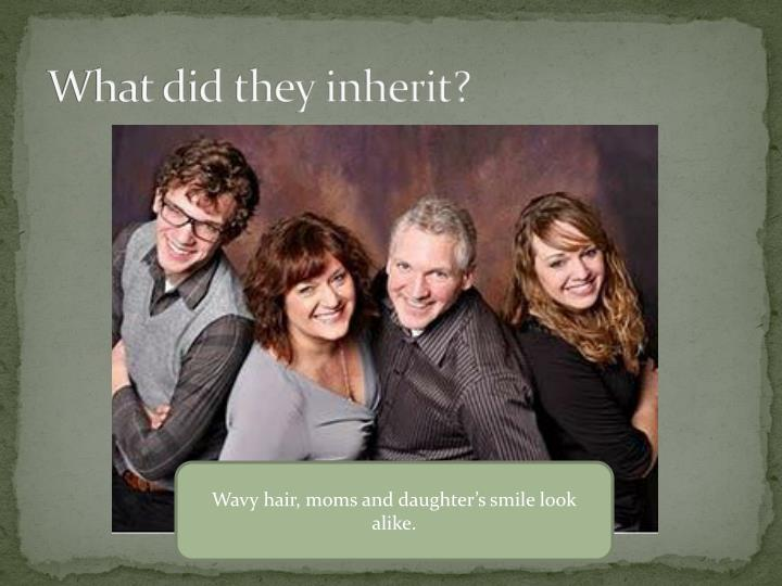 What did they inherit?