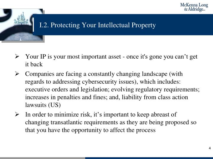 I.2. Protecting Your Intellectual Property