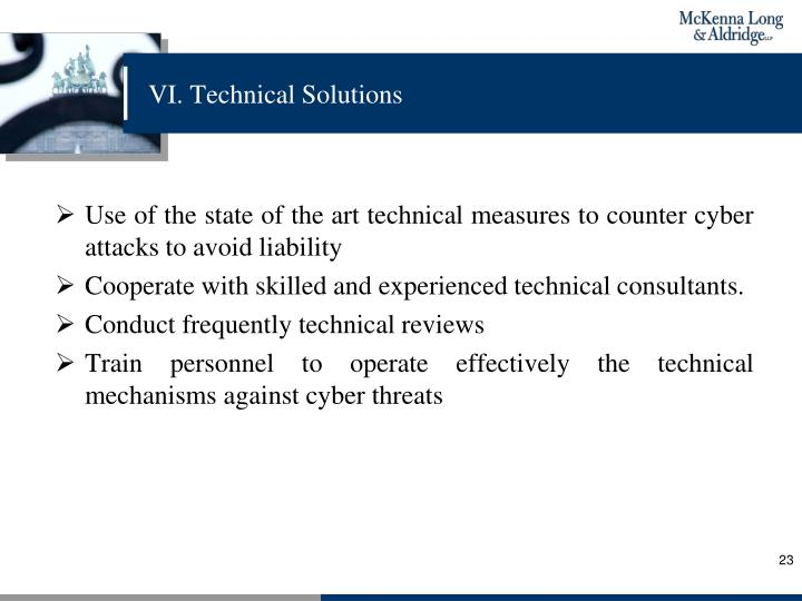 VI. Technical Solutions