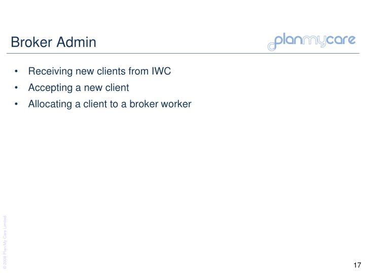 Broker Admin
