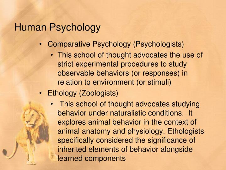an introduction to the psychology of human and animal behavior We account for animal behavior on rational grounds of animal psychology and in the comparative study of human and animal behavior introduction to the.