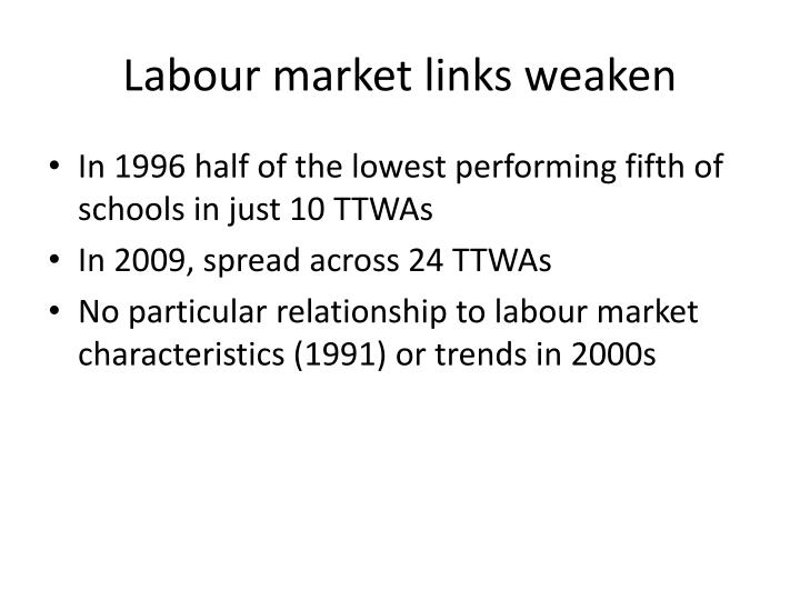Labour market links weaken