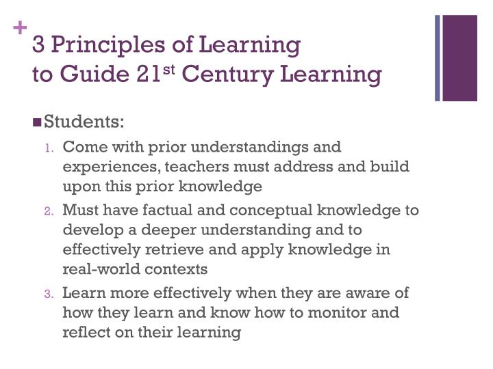 3 Principles of Learning