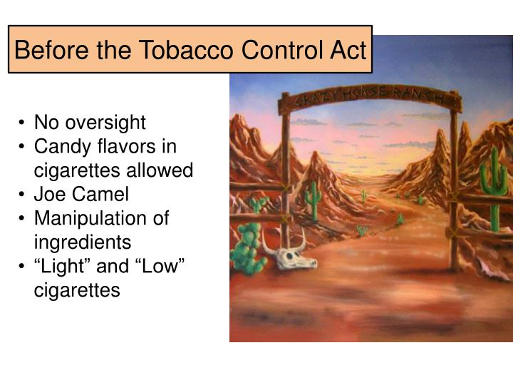 Before the Tobacco Control Act