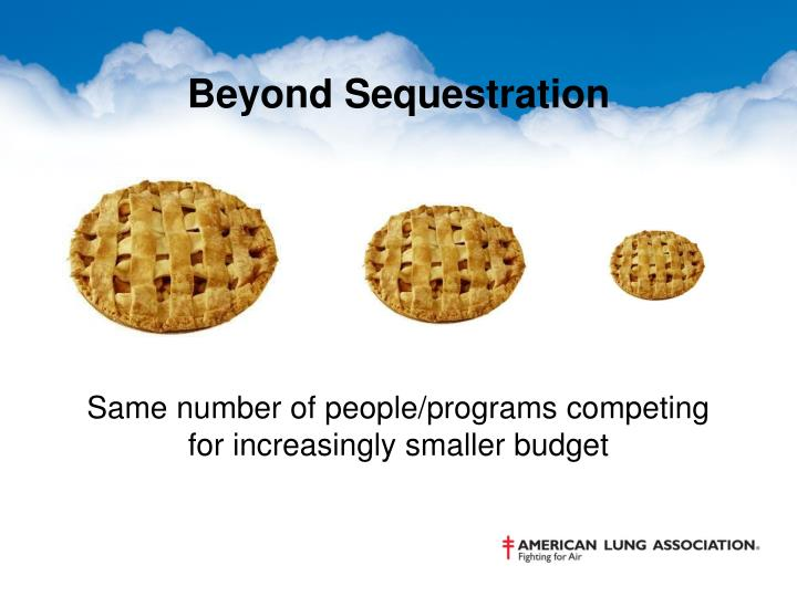 Beyond Sequestration