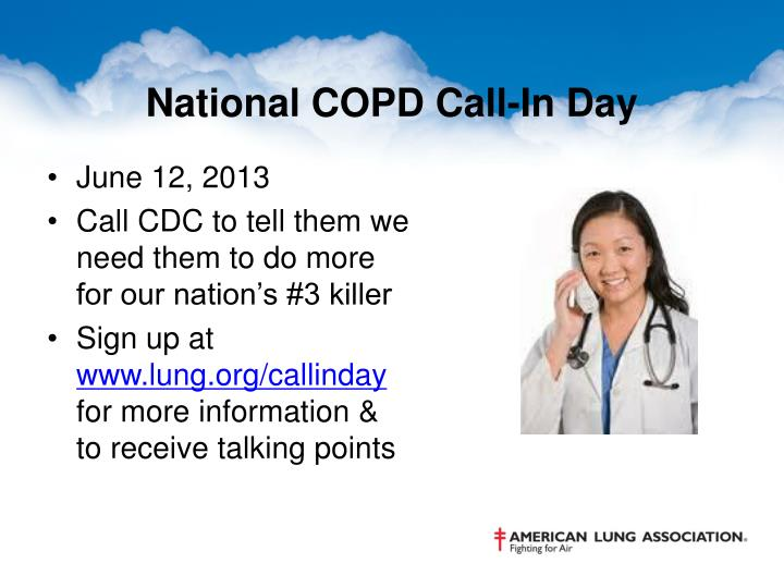 National COPD Call-In Day