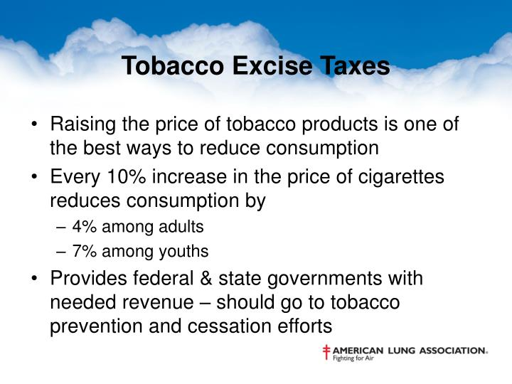 Tobacco Excise Taxes