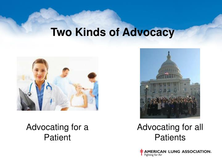 Two Kinds of Advocacy