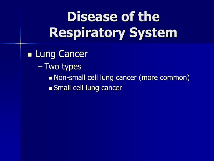 Disease of the Respiratory System