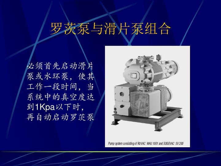 罗茨泵与滑片泵组合