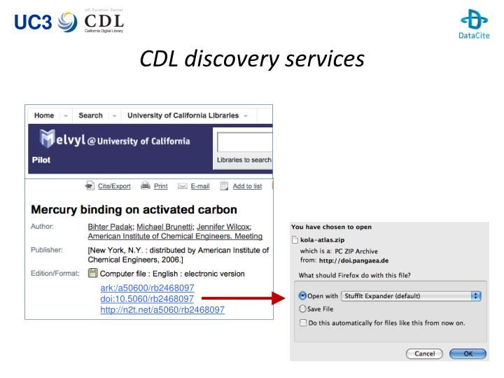 CDL discovery services