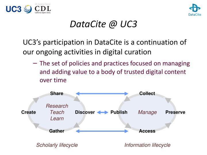 DataCite @ UC3
