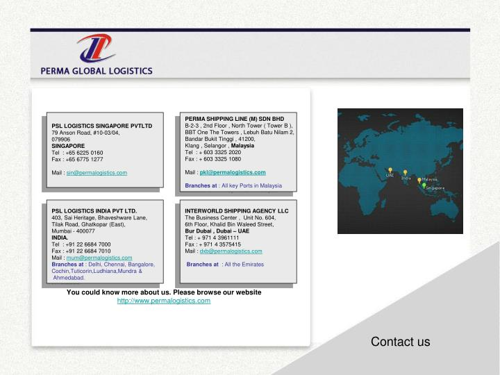PSL LOGISTICS SINGAPORE PVTLTD