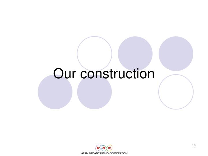 Our construction