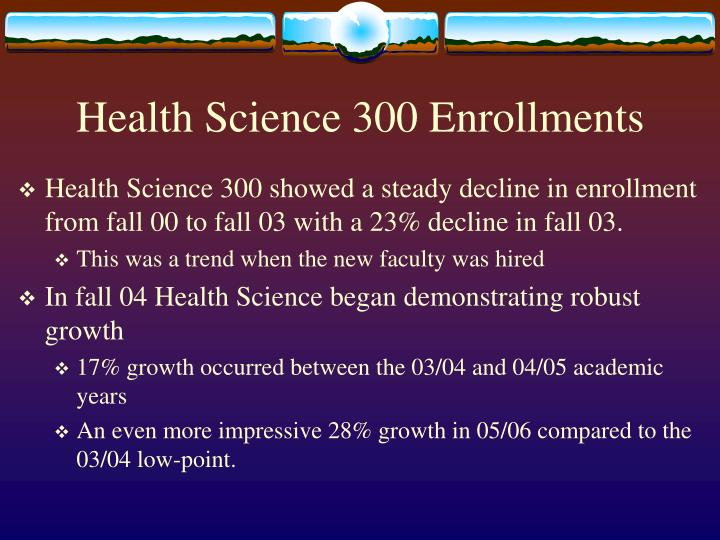 Health Science 300 Enrollments