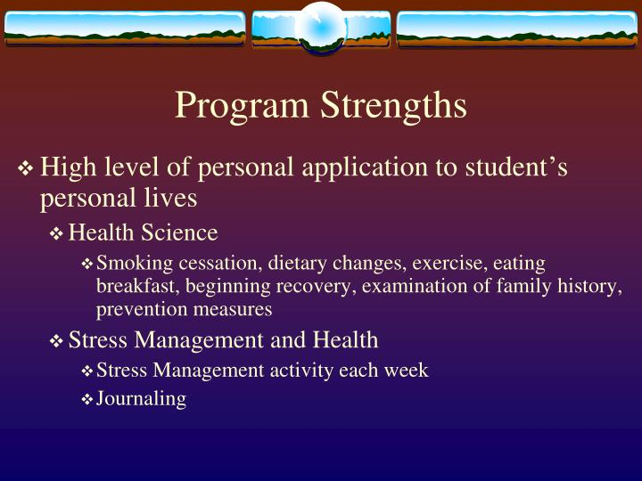 Program Strengths