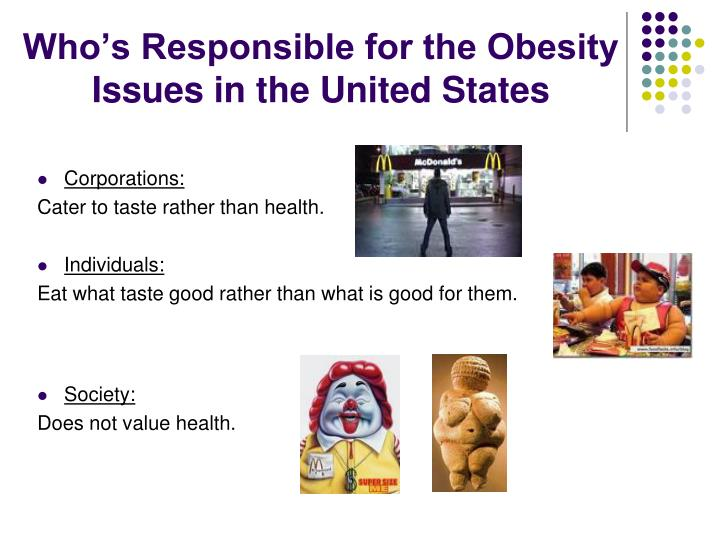 the complex issue of obesity in the united states Obesity is a complex health issue to address with poorer mental health outcomes, reduced quality of life, and the leading causes of death in the us and worldwide, including diabetes, heart disease, stroke, and some types of cancer the medical care costs of obesity in the united states are high.