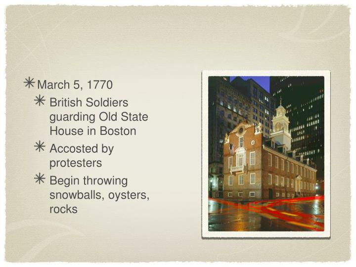 March 5, 1770