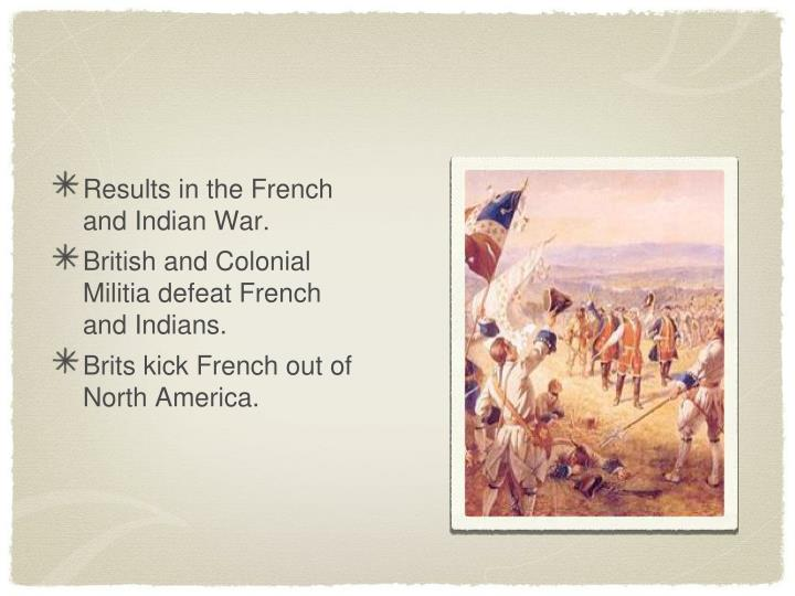 Results in the French and Indian War.