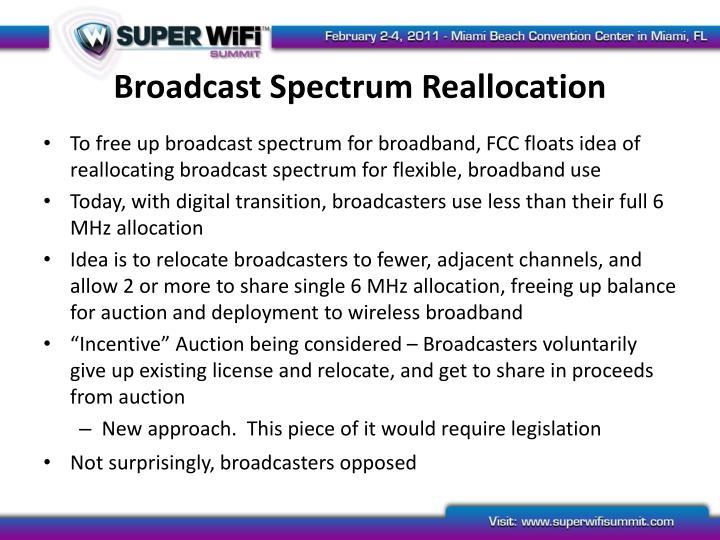 Broadcast Spectrum Reallocation