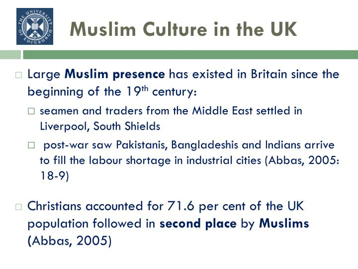 Muslim culture in the uk