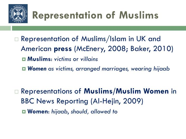 Representation of Muslims