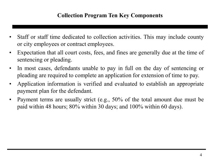 Collection Program Ten Key Components
