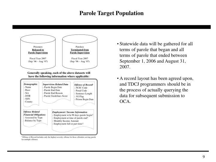 Parole Target Population