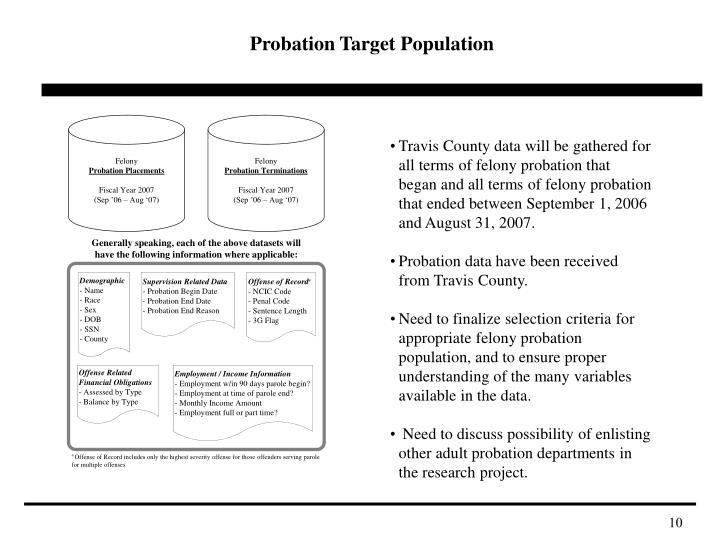 Probation Target Population