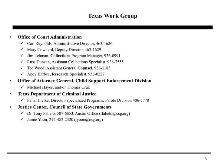 Texas Work Group