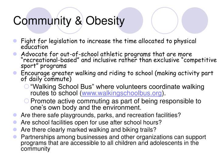 Community & Obesity