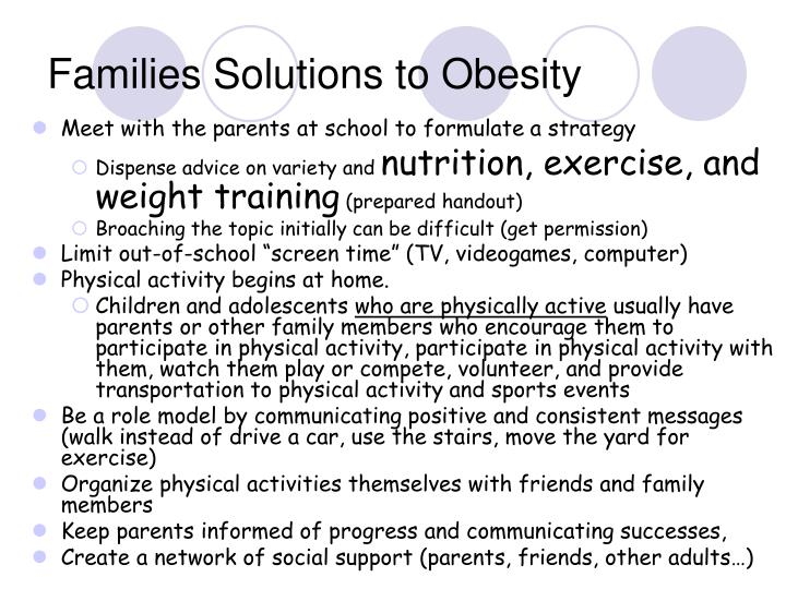Families Solutions to Obesity