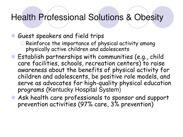 Health Professional Solutions & Obesity