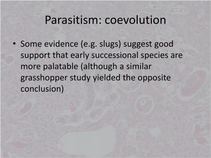 Parasitism: coevolution
