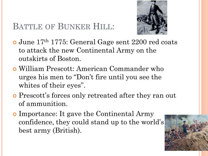 Battle of Bunker Hill: