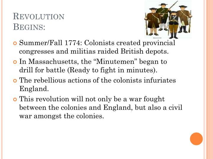 Revolution Begins: