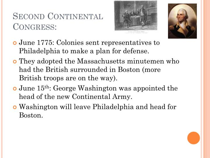 Second Continental Congress: