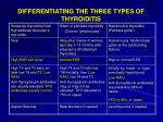 differentiating the three types of thyroiditis